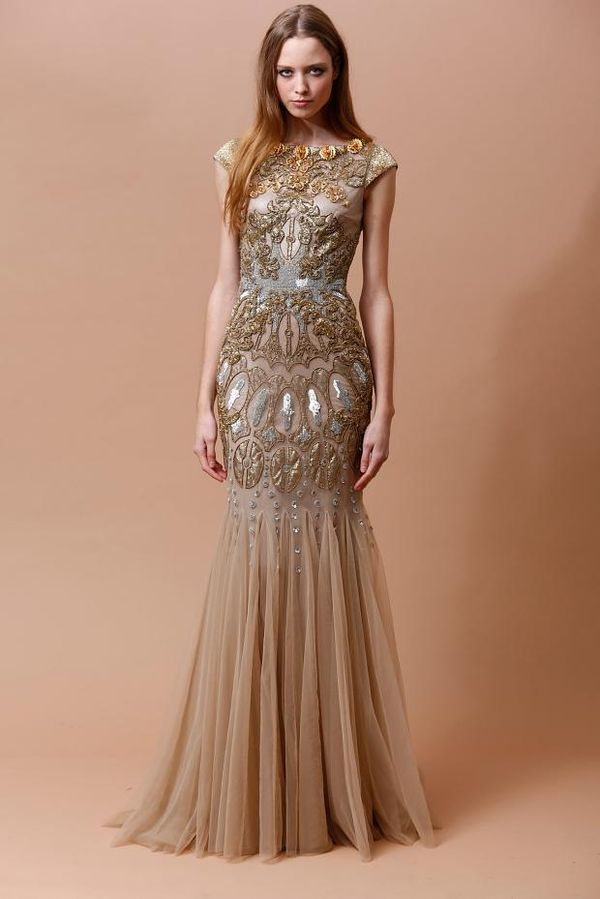 Glamorously Ornate Gowns : Badgley Mischka Pre-Fall 2014