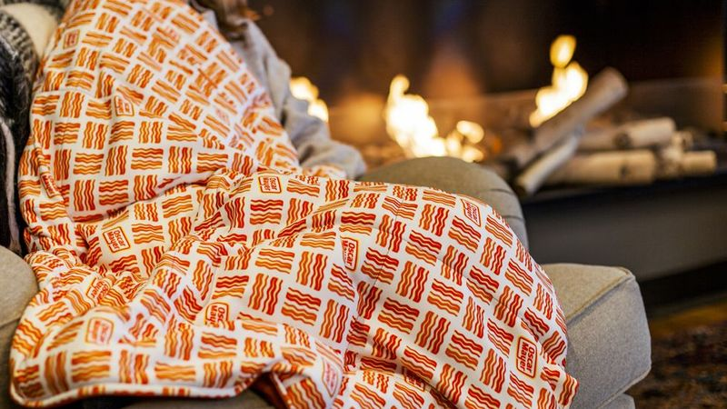 Bacon-Branded Weighted Blankets