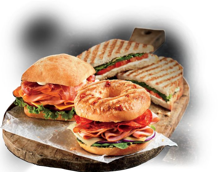 Grilled Bagel Sandwiches