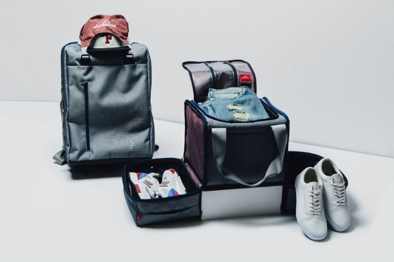 Compartmentalized Sneaker Luggage