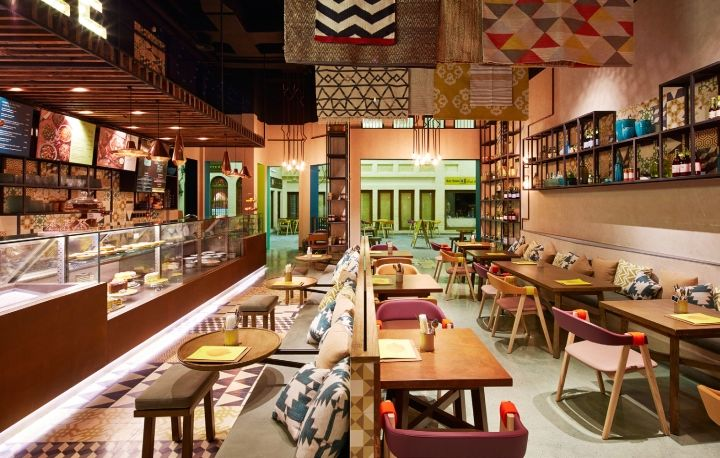 Warm Asian Eatery Interiors : Prague Restaurant