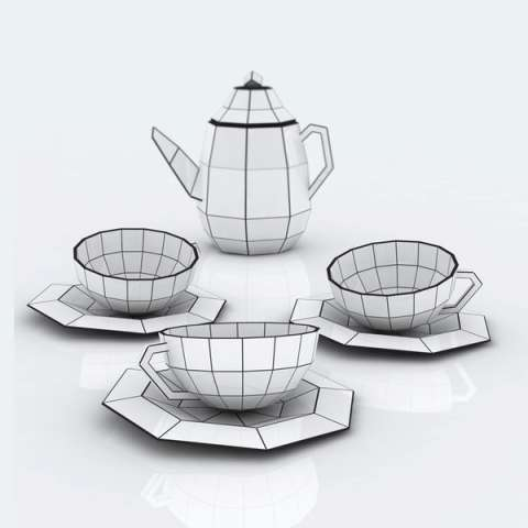 Spider-Inspired Tea Sets