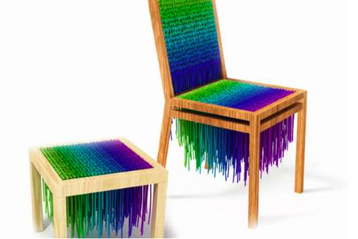 Knitted Neon Furniture