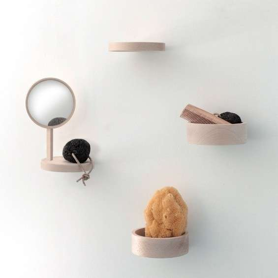 Wall-Mounted Wooden Dishes