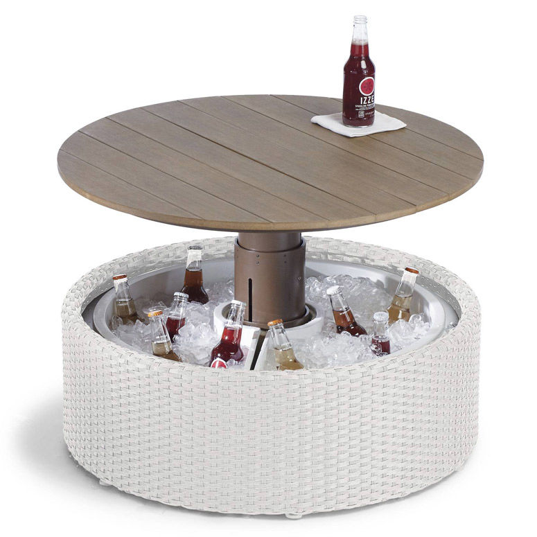 Drink-Chilling Outdoor Tables