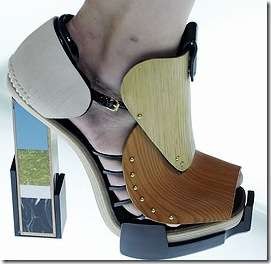 Contemporary Colorblock Heels