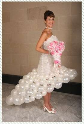inflated bridal dresses balloon wedding gowns