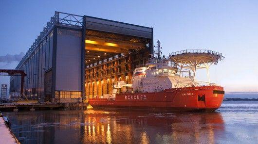 Sideways Ice-Breaking Ships