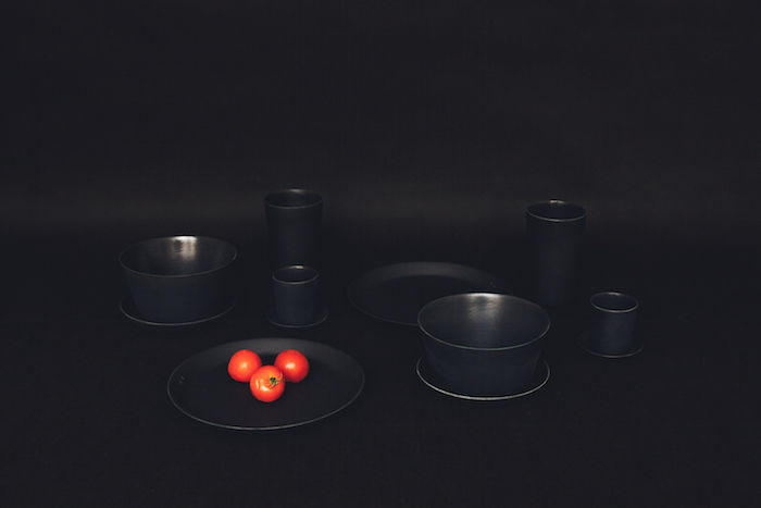 Blackened Bamboo Tableware