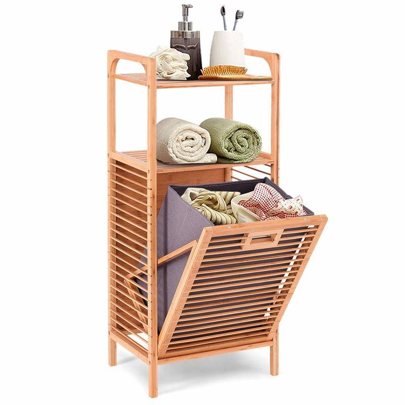 Discreet Bamboo Laundry Hampers