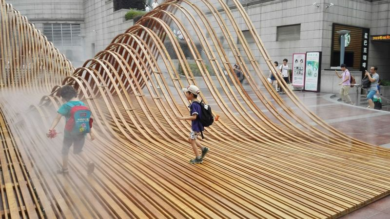Wavy Wooden Sculptures