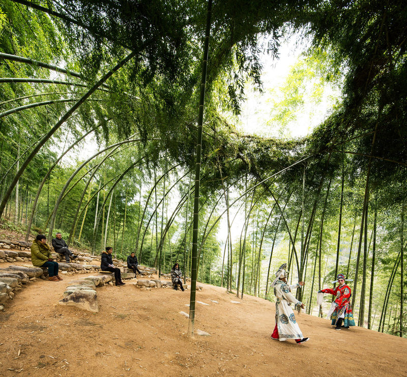 Leafy Bamboo Performance Spaces