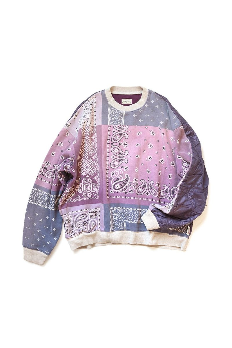 Partially Quilted Bandana Sweaters