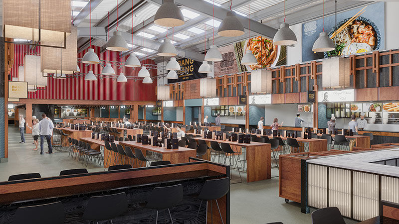 Expansive Asian Food Courts