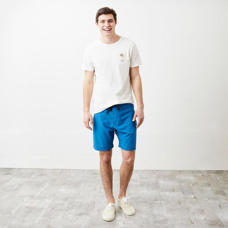 Soft Ocean-Blue Board Shorts