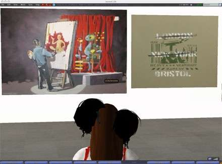 Second Life Banksy Party- Banksy Ghetto