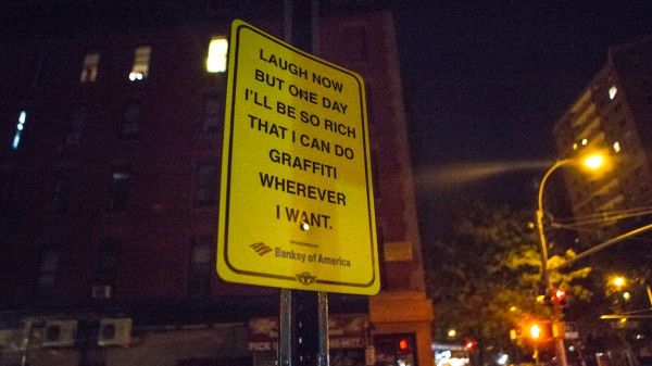 Street Artist Satire Signs