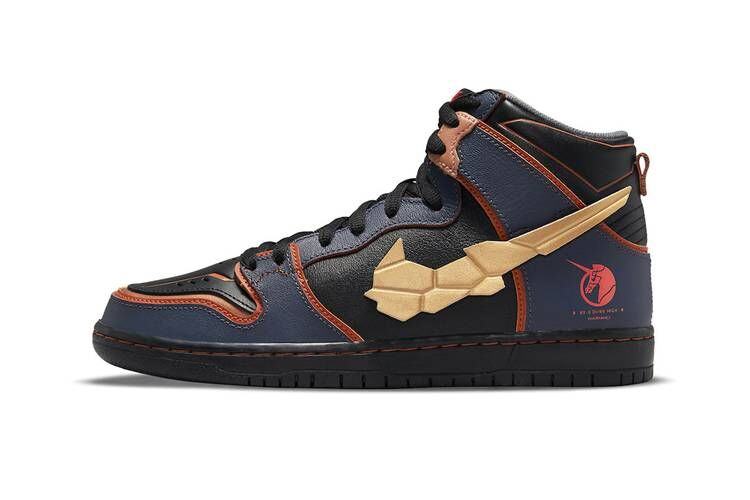 Anime-Themed High-Top Sneakers