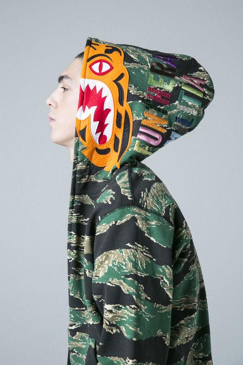 Shark-Branded Camouflage Streetwear