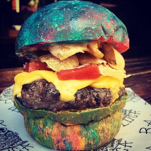 Celebrity-Honoring Rainbow Burgers