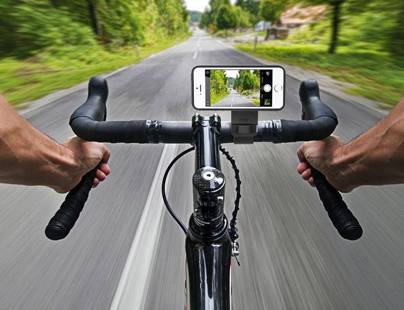 Cyclist Smartphone Selfie Docks