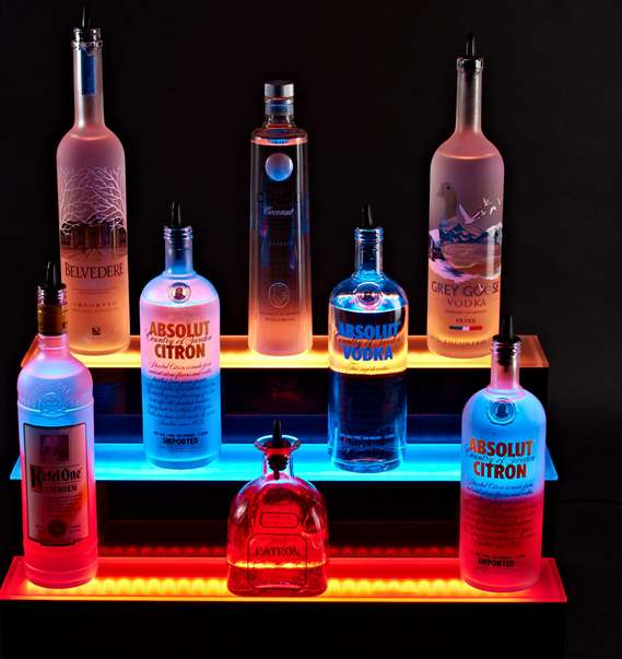 Illuminated LED Bar Shelves
