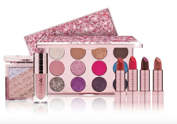 Expansive Barbie-Inspired Makeup Sets