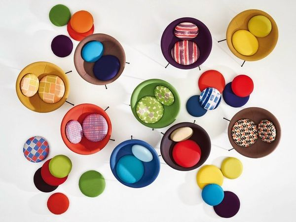 Vibrant Circular Seating