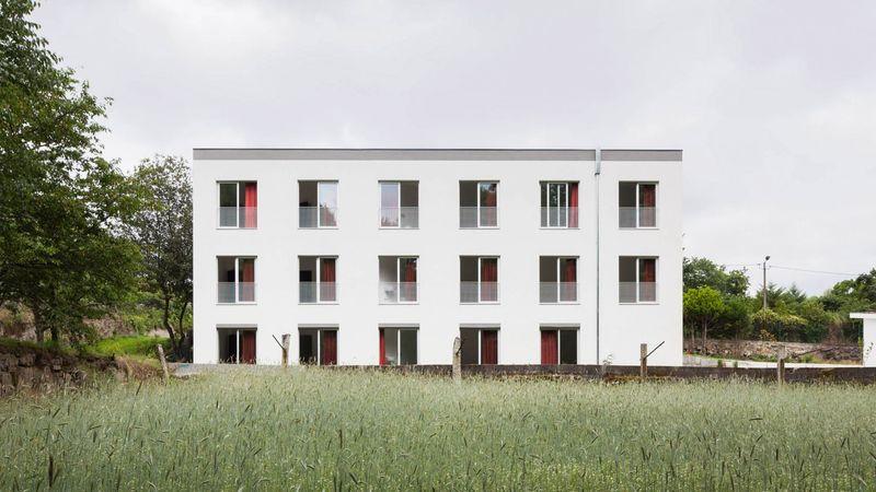 Portuguese Bare Apartment Blocks