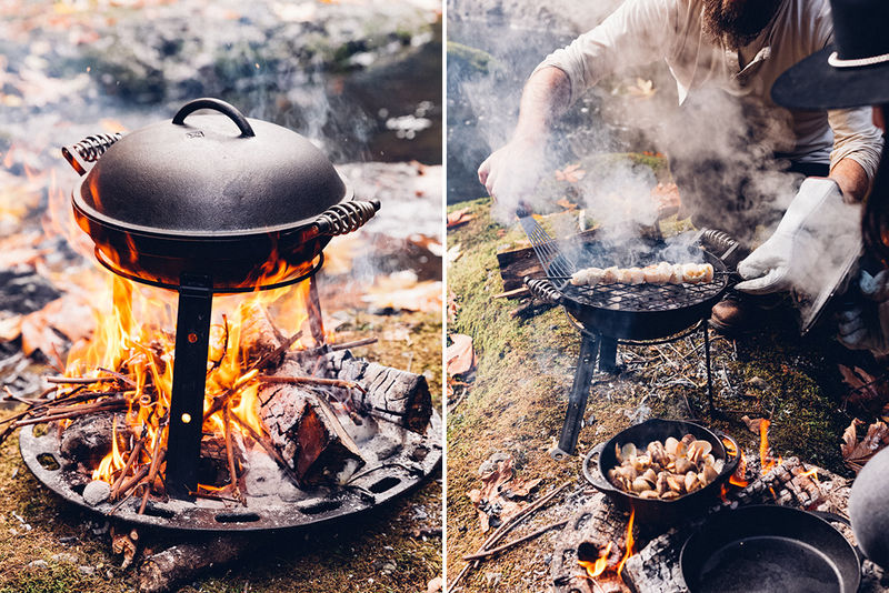 Outdoor Cast-Iron Cookers