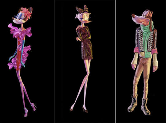 Couture-Clad Disney Stars