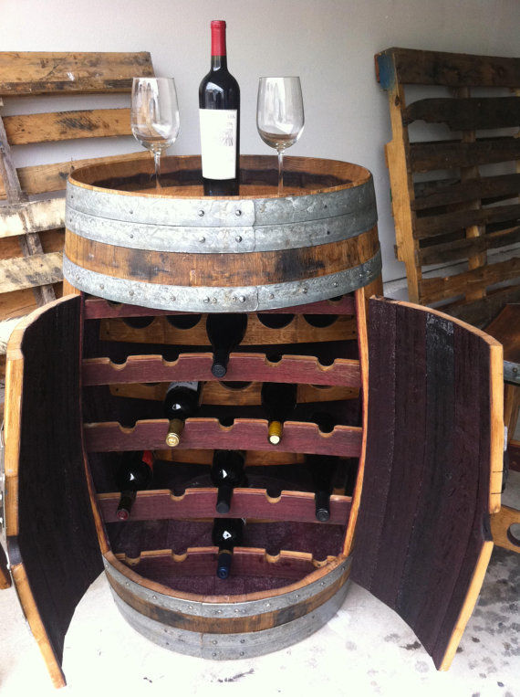 Reworked Barrel Wine Racks