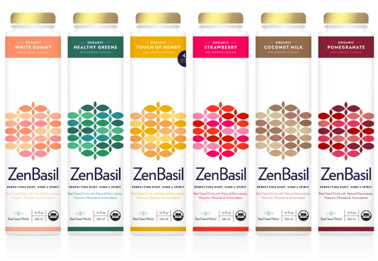 Basil Seed-Based Beverages