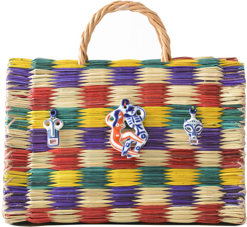 Luxurious Multicolored Basket Bags