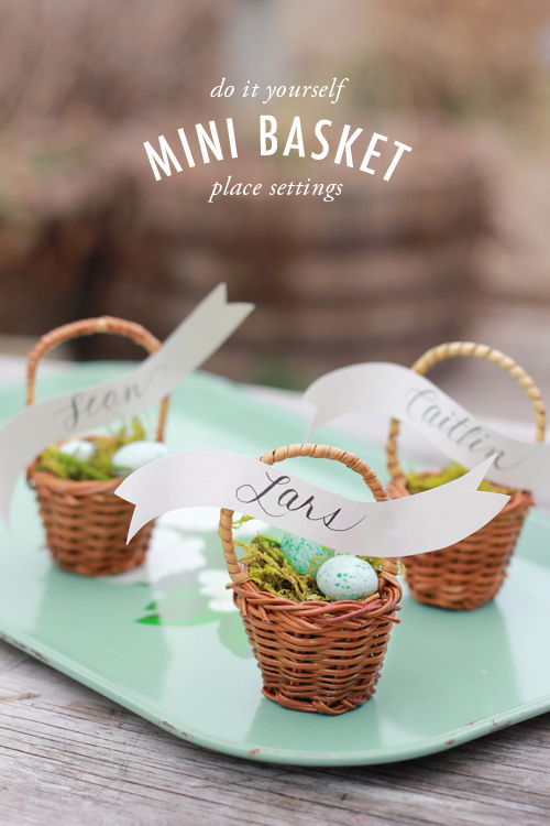 DIY Basket Place Settings