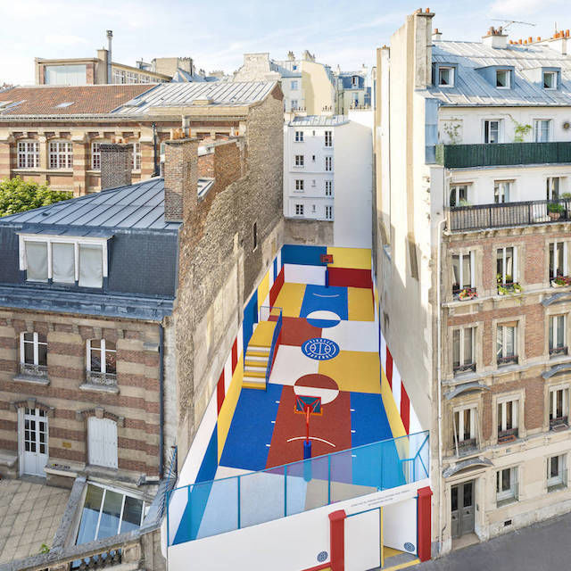 Eye-Catching Basketball Courts