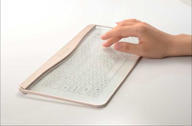 Transparent Glass Keyboards
