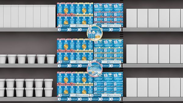 Greek Yogurt Retail Displays