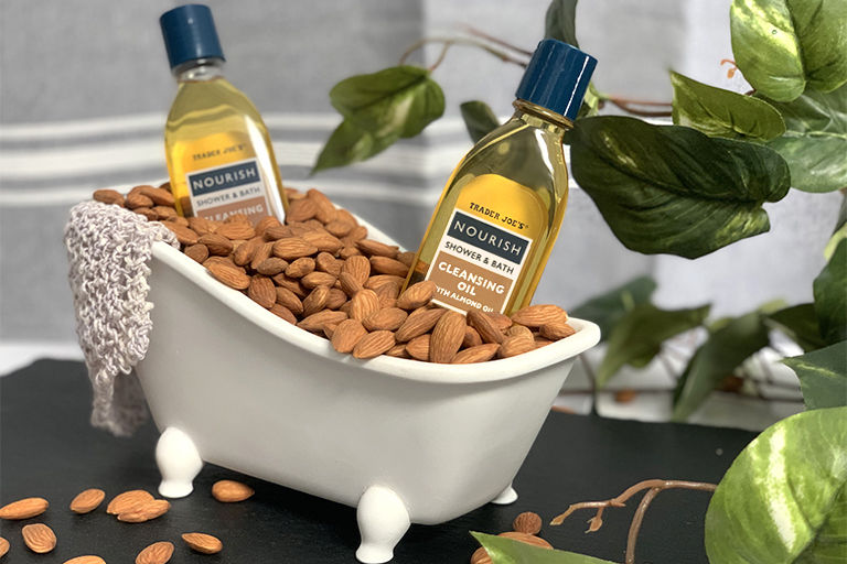 Almond Oil-Infused Cleansers