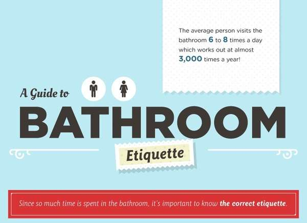Laughable Lavatory Guides Bathroom Etiquette