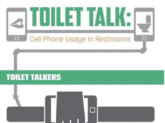 Phone Damaging Toilet Infographics
