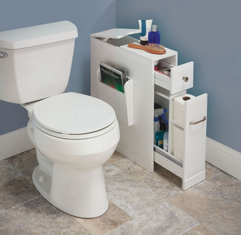 Slim Bathroom Storage Units : Bathroom Organizer