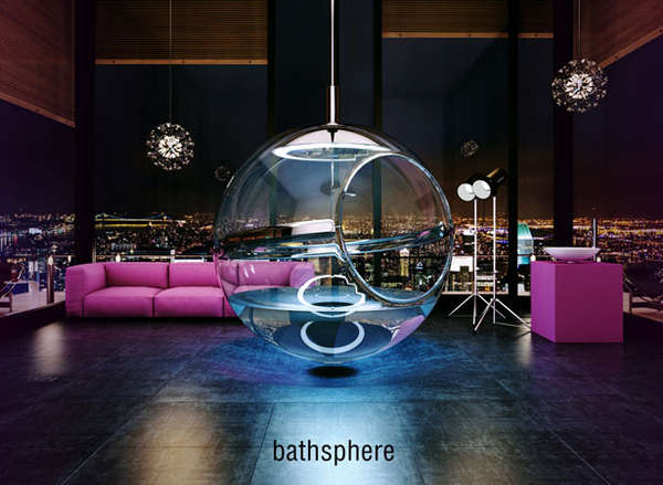 Extravagant Bathtubs - Hammock shaped bath tub