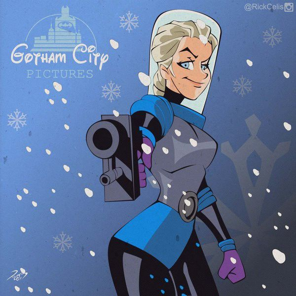 Gotham-Disney Hybrid Illustrations