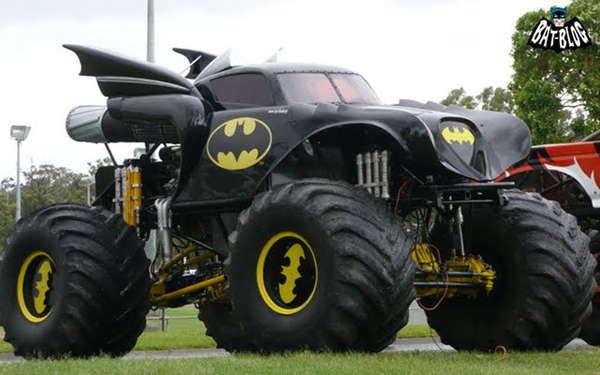 Cheap Mud Tires For Trucks >> Superheroic Monster Trucks : batmobile monster truck