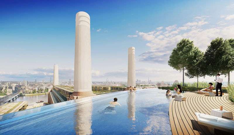 London Infinity Pools Battersea Power Station Development