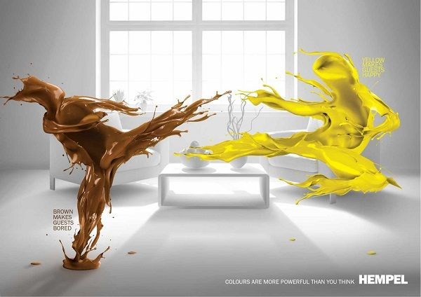 Color-Clashing Paint Ads