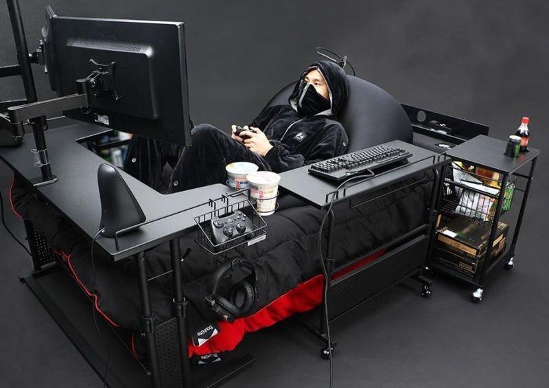 Desk-Equipped Gamer Beds