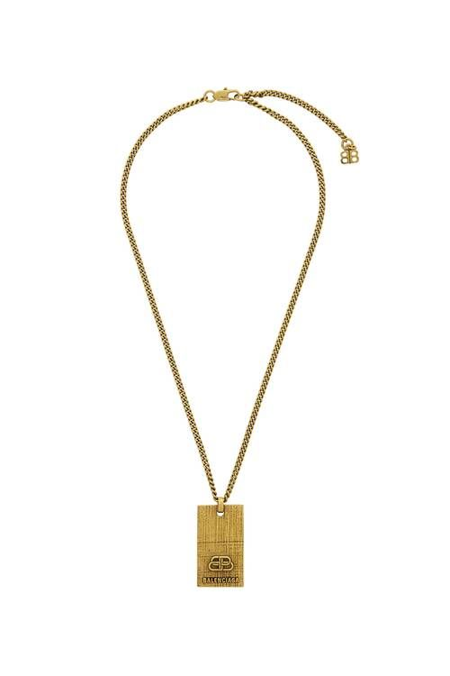 Dog Tag-Inspired Brass Necklaces