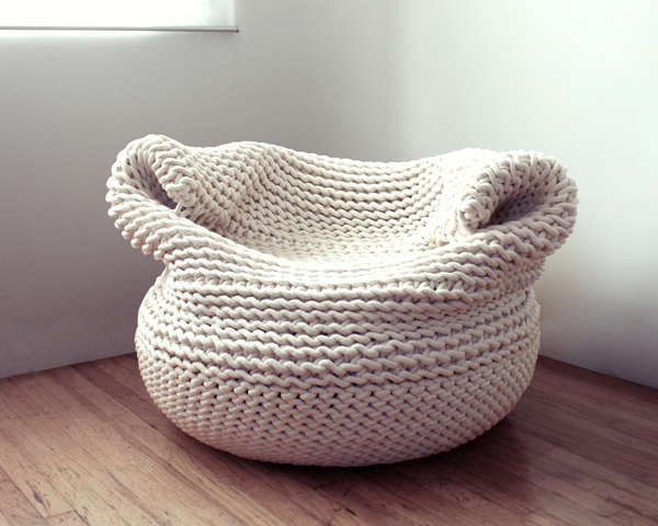 Cozy Knitted Beanbags